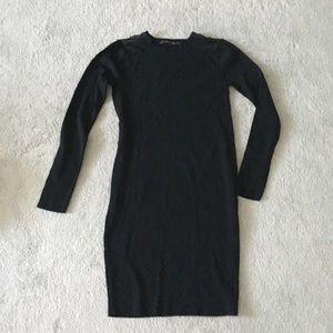 NWOT Zara Black Dress with Mesh Panels